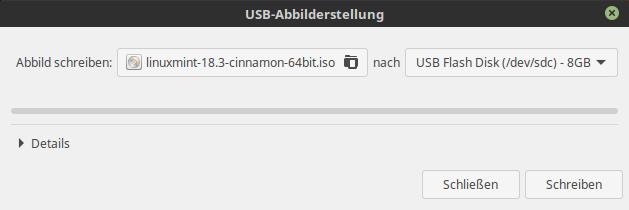 usb stick bootfähig machen linux